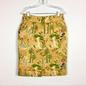 Anthropologie Skirts - ANTHROPOLOGIE LEIFSDOTTIR GOLD PENCIL SKIRT